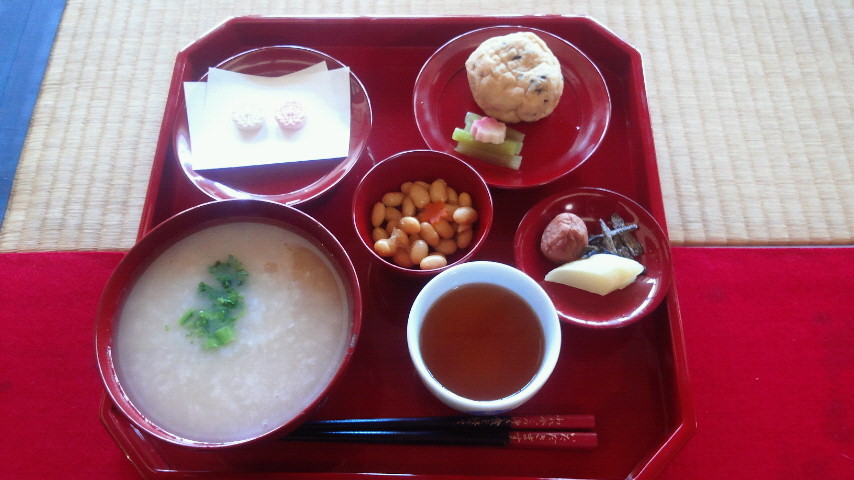東本願寺枳殻邸の粥膳