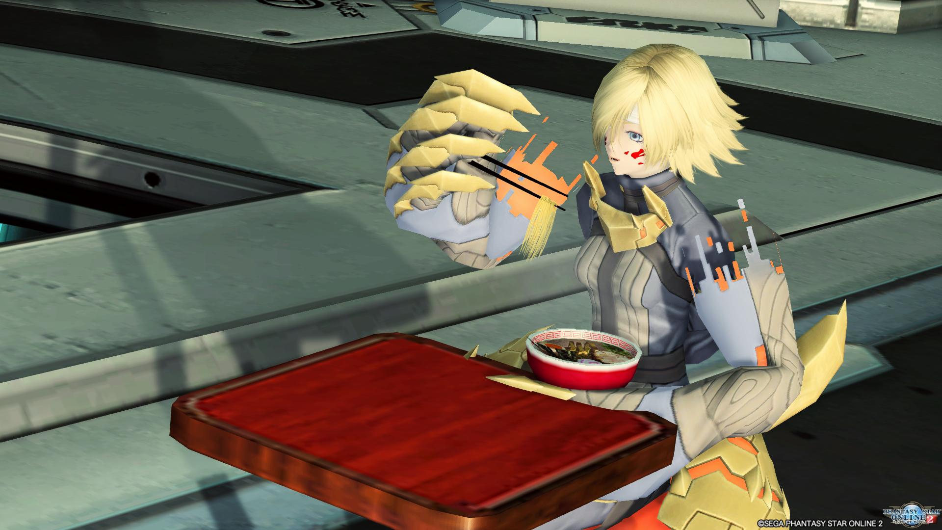 三式拘束衣・丑寅F ラーメン食べさせてもらった2