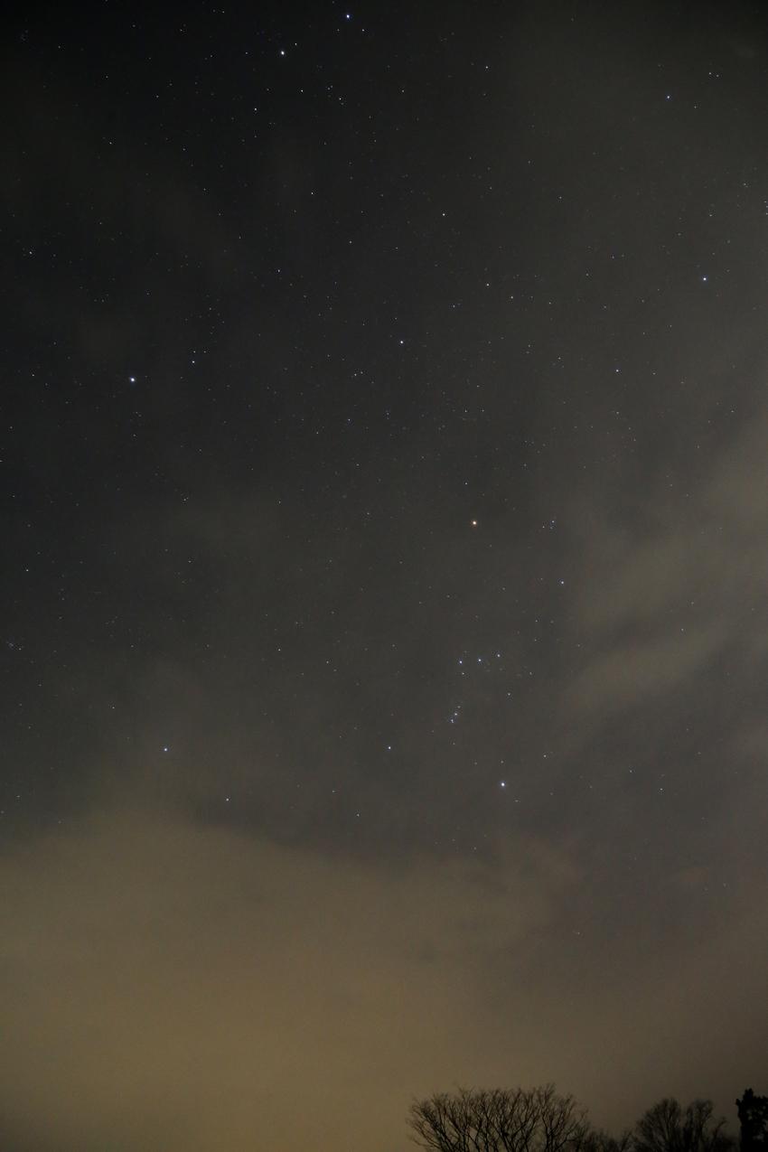 20170302雲間の冬の星座