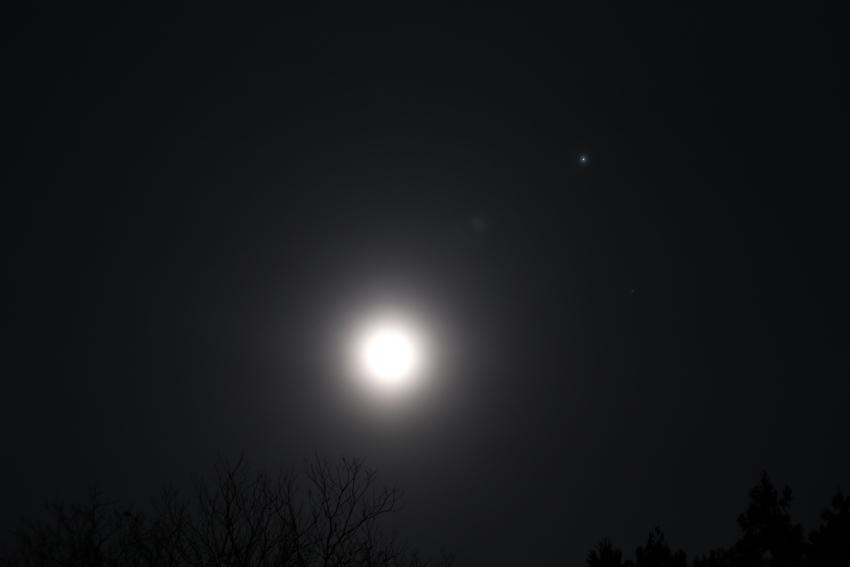 20170315月と木星とスピカ