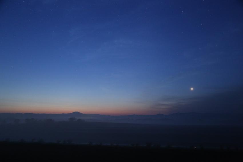 20170504朝靄と明けの明星