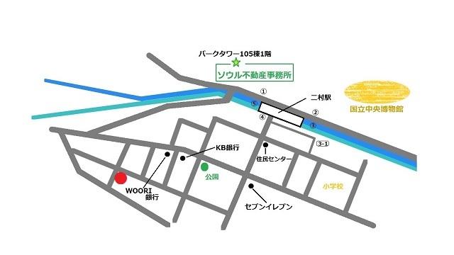 韓国 omega 地図