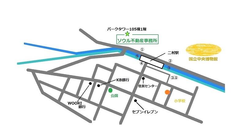 韓国 LE味屋(ルミヤ) 地図