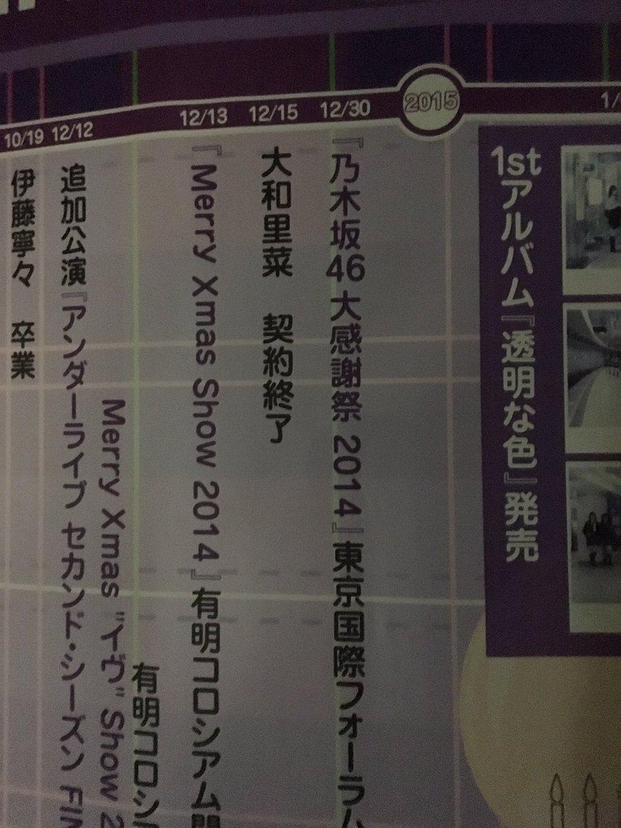 乃木坂46 5th YEAR BIRTHDAY LIVE 年表 大和里菜 契約終了