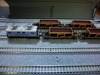 鉄コレの近江鉄道ED14と連結させたホキ10形風貨車②