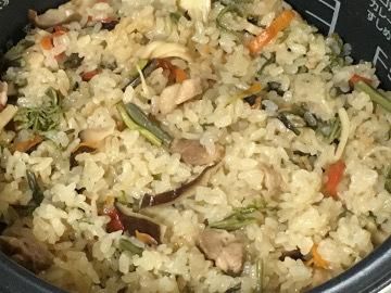 炊き込みご飯と種蒔き4