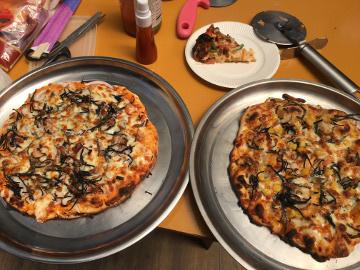 ピザ焼きとレンゲ5
