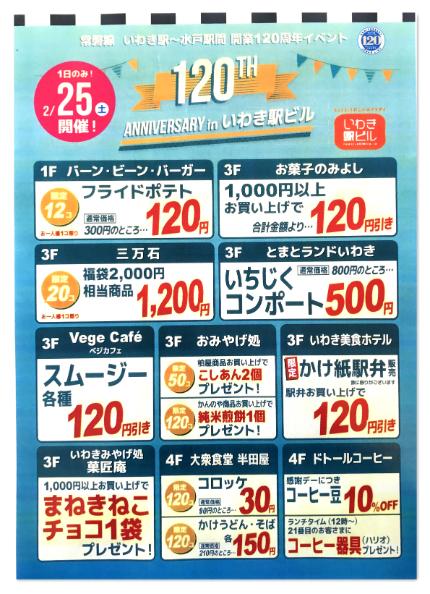 常磐線水戸~いわき駅間開業120周年記念 4