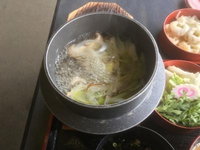 御田の方御膳の鍋(うどん、野菜用)