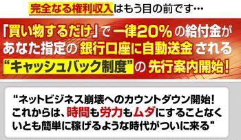 塩田保洋 キャッシュバックシステム レビュー 評価