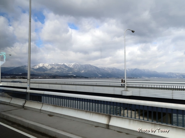 琵琶湖大橋通行中