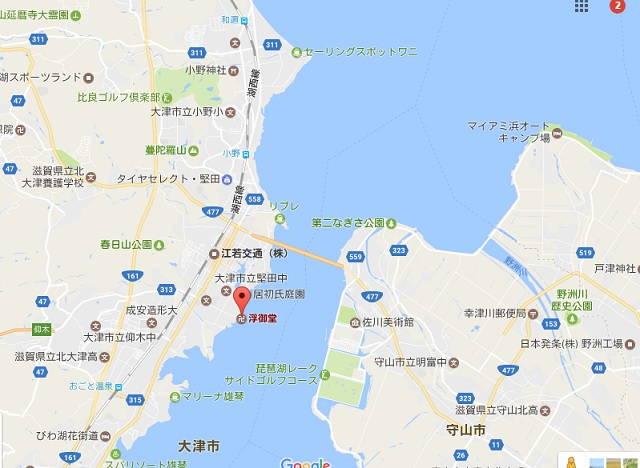 琵琶湖大橋周辺マップ