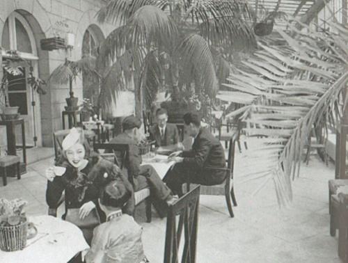 朝鮮ホテルのサンルーム1940