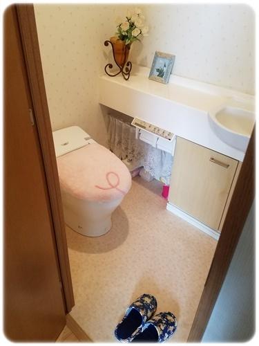 トレイマットなしのトイレ