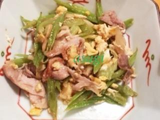 葉ごぼうの炒め物