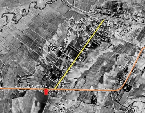 1948年米軍空撮 厚別旭町周辺