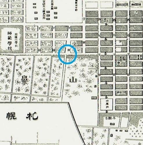 札幌市街之圖明治36年 石山通り周辺
