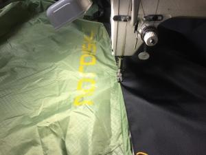 スカートと本体のハギ合わせ縫い