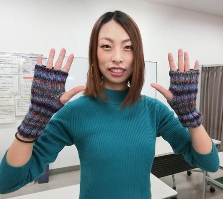 初めての棒針での手袋