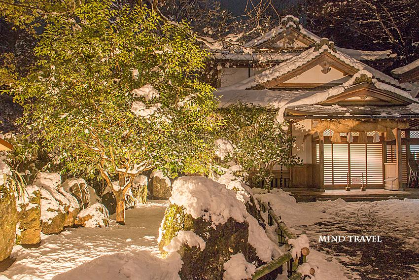 貴船神社 天津磐境 雪