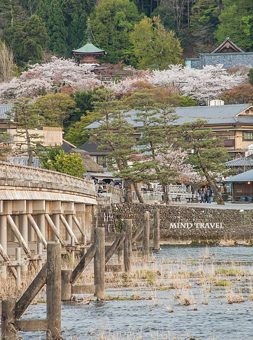 渡月橋より法輪寺を望む