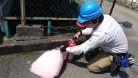 蓄圧式粉末消火器 内部点検 放射能力試験 小林消防設備
