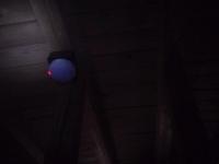 天井裏感知器作動状況 差動式スポット型 小林消防設備