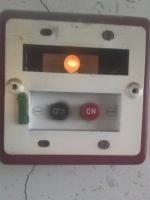 屋内消火栓 遠隔起動装置内部 小林消防設備