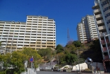 神戸市営住宅ベルデ名谷入口付近の急坂