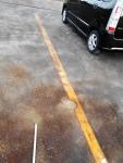 2017年4月2日・駐車場の白線1