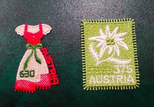 店長さんの刺繍切手