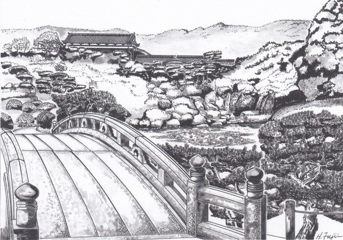 藤井画伯毛利庭園
