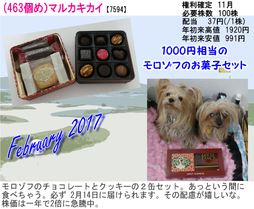 (463)2017年02月到着 マルカキカイ