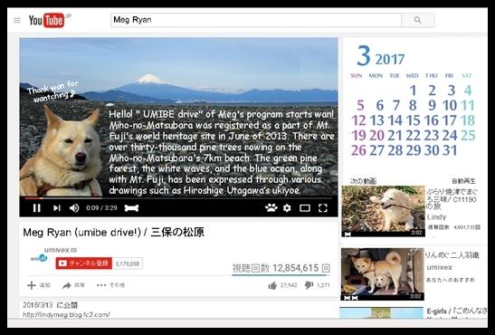 201703 Youtube_megチャンネル