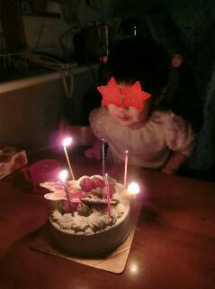 5歳バースデーケーキ点灯