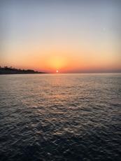 梅沢海岸の日の出
