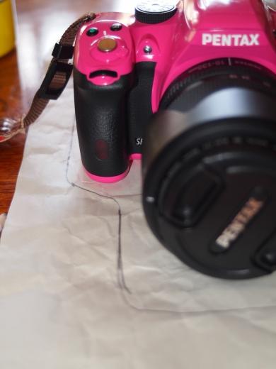 型紙 カメラのジャケット