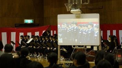 春日部共栄中学校卒業式03