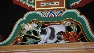 日光 眠り猫
