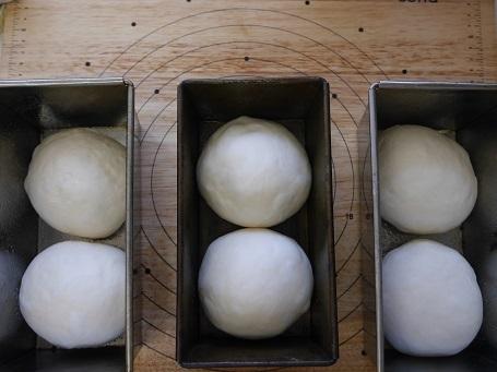 食パン発酵前