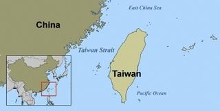 台湾中国地図