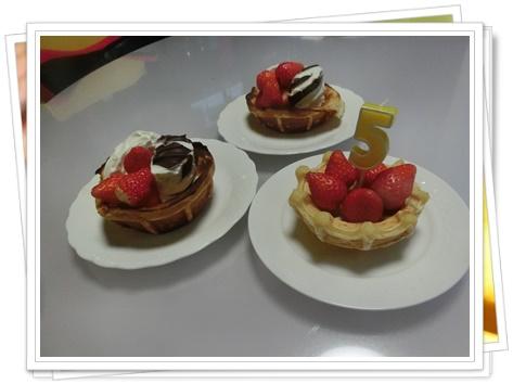 poco誕生日の日のデザートタイム