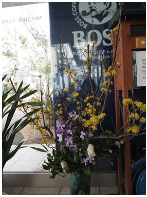 玄関の花1
