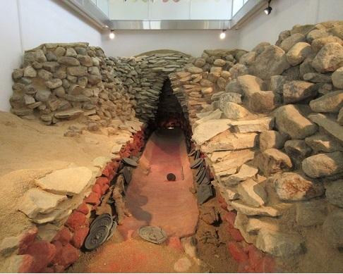 6 黒塚古墳 竪穴式石室と副葬品の配列