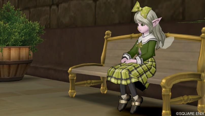 チェックのスカート・緑
