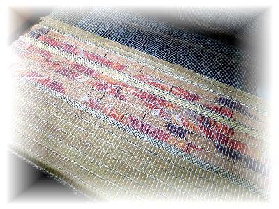 裂き織りマフラー18-1