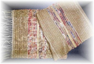裂き織りマフラー18-2