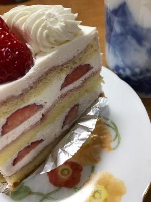 1日遅れの 誕生日ケーキ
