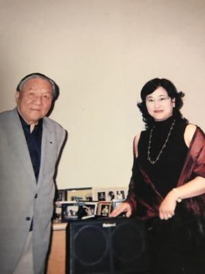 梯郁太郎さんとみどり マレキアーレにて