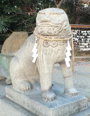 安居神社03狛